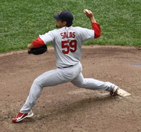 Fernando Salas was just the first in a parade of lifesavers last night for the Redbirds, but may very well have been the most important. - COMMONS.WIKIMEDIA.ORG