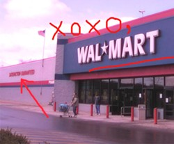 Walmart: You can't not get no satisfaction.