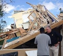 Storm damage in St. Charles. - VIA TWITTER