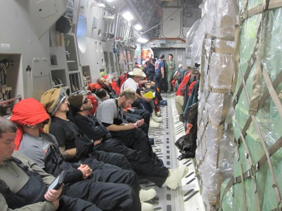 Part of the Wash. U. team in Antarctica. - RICHARD BOSE