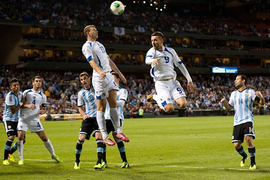 Bosnia-Herzegovina plays Argentia at Busch Stadium. - RIVERFRONT TIMES