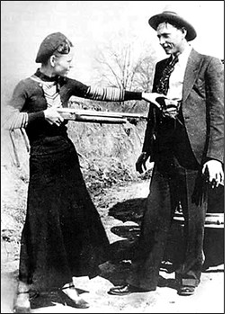 Bonnie, Clyde and a shotgun -- which could become yours! - IMAGE VIA