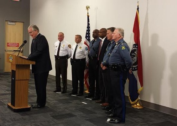 Governor Jay Nixon lays out plans for protests in Ferguson and St. Louis after the grand-jury announcement. - JESSICA LUSSENHOP