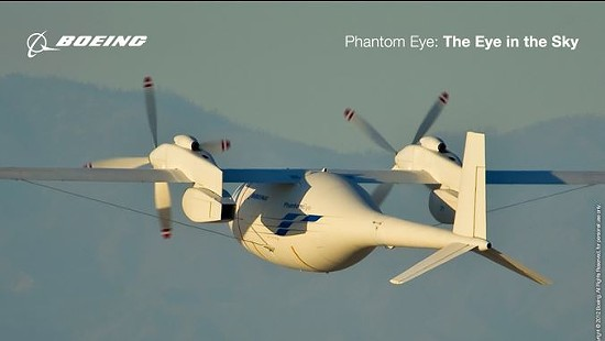 "St. Louis' own Boeing makes many drones, including this one named ""The Phantom Eye."" - BOEING"