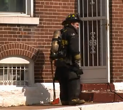 Firefighter investigates possible meth fire. - VIA KSDK