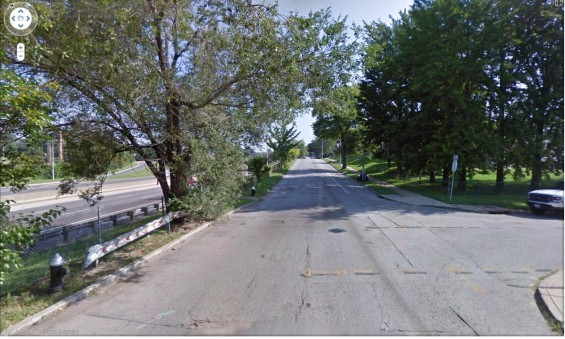 The 7100 block of Idaho, where an out-of-control vehicle from I-55 came to its deadly stop.