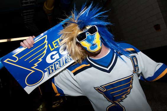 "#LGB means ""Let's go, Blues."" - JON GITCHOFF"