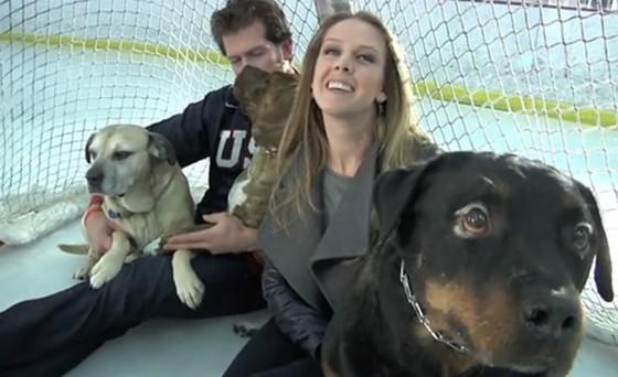 David and Kelly Backes, advocating for animal rights. - VIA