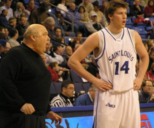 SLU Billikens basketball coach Rick Majerus was a mentor to forward Brian Conklin, who graduated earlier this year - KEEGAN HAMILTON