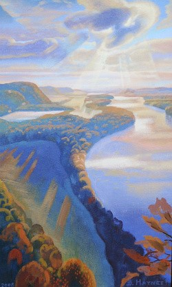 St. Alban's Village, from Our Great Waterways: The Mississippi, Missouri and Illinois Rivers at Kodner Gallery. - BRYAN HAYNES