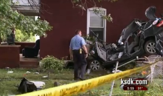 Scene of the crash. - VIA KSDK.COM