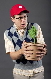 Ben Nordstrom as Seymour in Stages St. Louis' Little Shop of Horrors - WHITNEY CURTIS | STAGESSTLOUIS.ORG