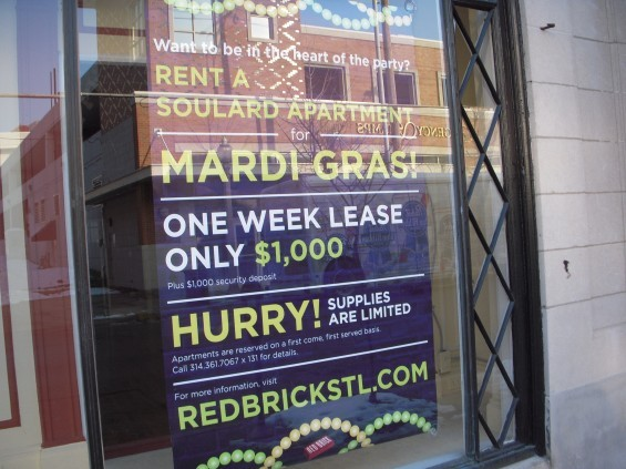 Calling all boozers! There's an apartment in Soulard waiting for you!