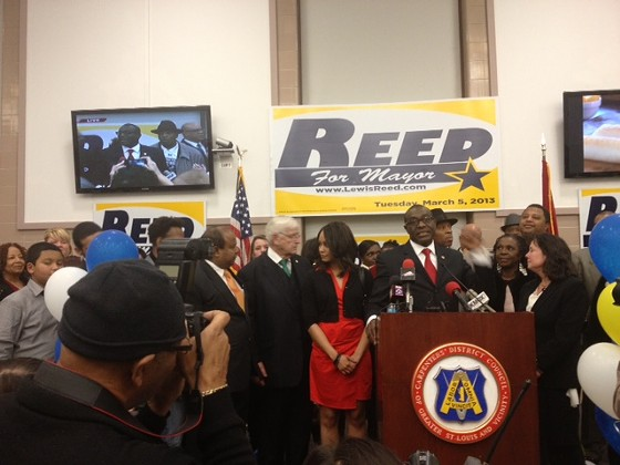 Lewis Reed during his concession speech. - SAM LEVIN