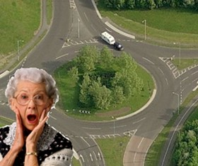 I'm cold and frightened and WHAT'S A ROUNDABOUT!?!?