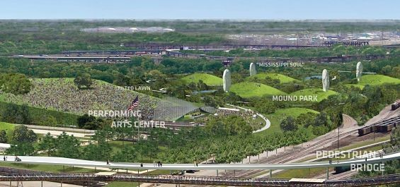 SOM-Hargreaves-BIG's plan for the East Side. - IMAGE VIA