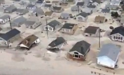 Homes damaged by Hurricane Sandy. - LISITUDE VIA YOUTUBE