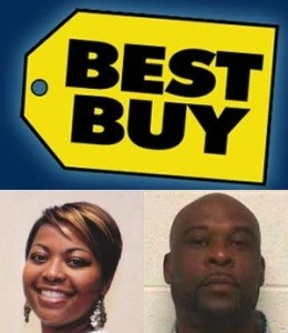 East STL Councilwoman Latoya Greenwood and companion Hickey Thompson had a bad day at Best Buy