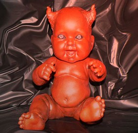 Devil baby doll: significantly more frightening that the New Jersey Devils.