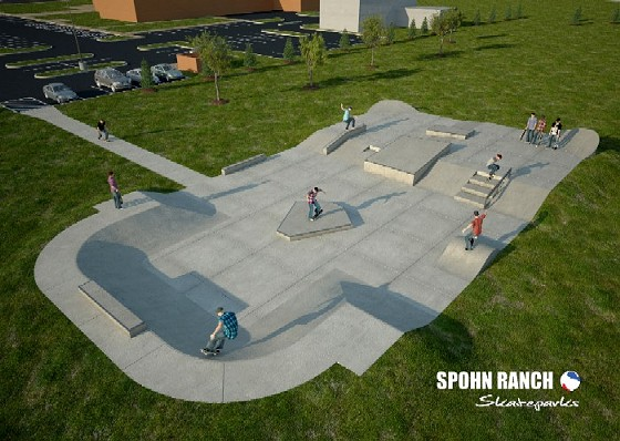 O'Fallon's park has no vert, but lots of grind potential. - SPOHN RANCH SKATEPARKS