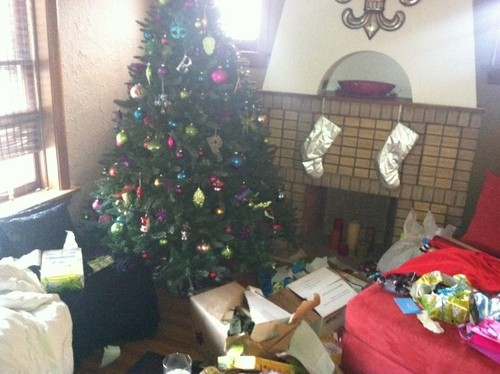 Thieves ransack the Plummers' Christmas gifts. - AMY JO PLUMMER