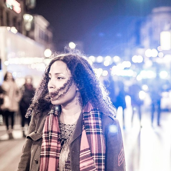 Kristiana Colón, a Chicago-based activist leading the charge to keep filmmaker Lonnie Edwards accountable to the Lost Voices protesters. - XAVIER RAMEY