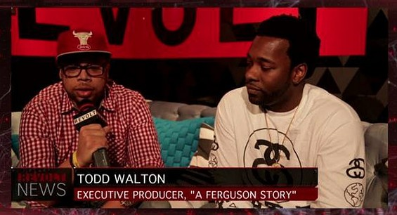 Lonnie Edwards and Todd Walton get interviewed about A Ferguson Story. - REVOLT TV