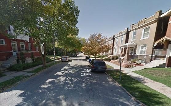 Facing east on the 3200 block of Taft Avenue toward Virginia Avenue, where cops eventually arrested the suspects. - GOOGLE MAPS