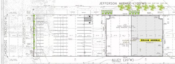 The plans for Dollar General. - VIA