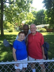 Derrick Thomas and his neighbors Bernice and Steve Deardeuff live in the thick of things on West Florissant. - PHOTO BY MITCH RYALS