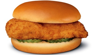 At lunchtime, enjoy a free chicken sandwich at Chik-fil-A. Sticker also  required.