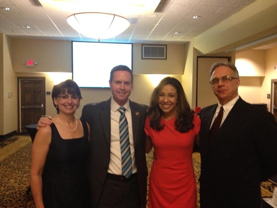 Rodney Davis with Erika Harold. - VIA FACEBOOK