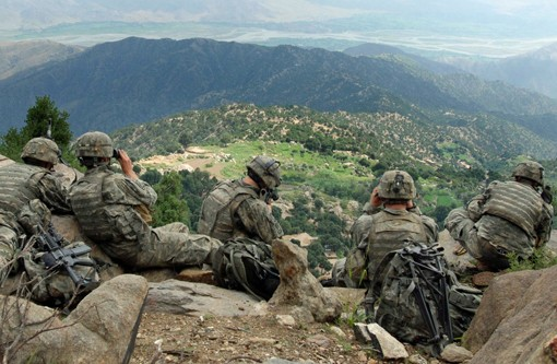 U.S. Army troops in 2006 in Kunar province, Afghanistan. - PHOTO VIA