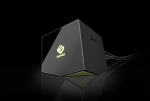 The front of the new Boxee Box (click for larger view)