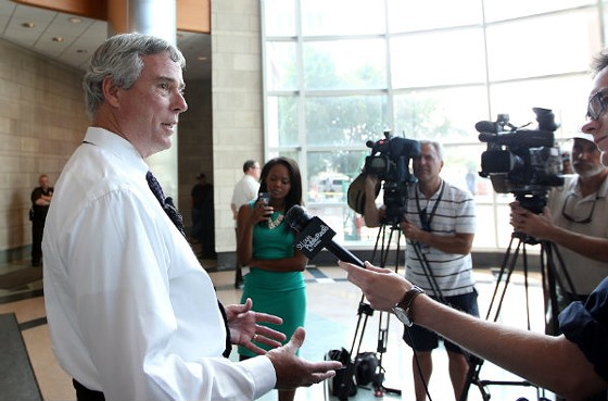 Prosecutor Bob McCulloch at a press conference last week. - UPI/BILL GREENBLATT
