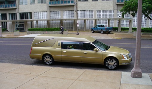 No yellow brick road, but there was a yellow hearse. - PHOTO: CHAD GARRISON