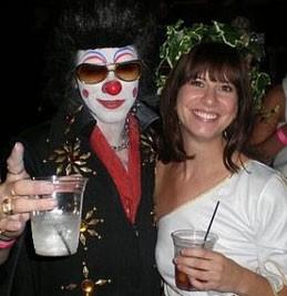 Abby Schwarz posing with Clownvis