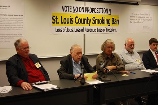 Citizens Against Prop. N: Rev. Harold Hendrick, Fred Teutenberg, Scott Simon, Jon Rand, Bill Hannegan - PHOTO: CHAD GARRISON