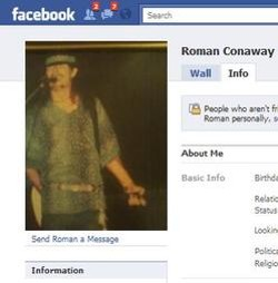 Conaway loves Stevie Ray Vaughn and hates the government on Facebook.