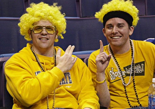 Wichita State Shockers Fans in full regalia. - PHOTO: STEVE TRUESDELL