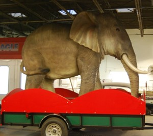 This poor Elephant doesn't have a name, but anybody can suggest one for a $7.00 donation going to BackStoppers. - CONTRIBUTED BY KIM BARKS