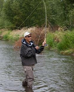 Does this look like a man who opposes recreational fishing?