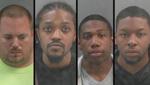 All four suspects. - VIA KMOV.COM