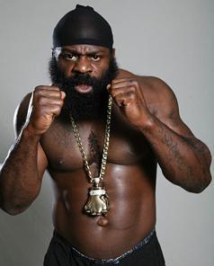 Kimbo Slice puts up his dukes Saturday in his pro boxing debut. - KIMBO305.COM