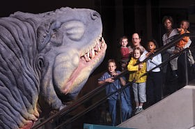 That's an exhibit at the science center, not Doug King. - SAINT LOUIS SCIENCE CENTER