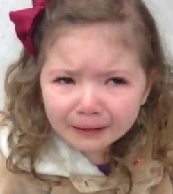 Lucy, age three. - VIA YOUTUBE