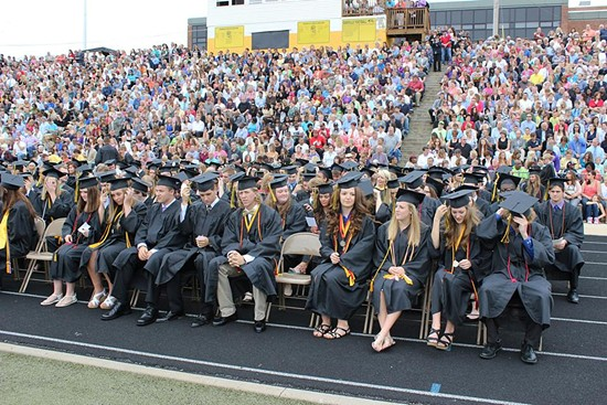 High school graduation. - VIA MEHLVILLE SCHOOL DISTRICT FACEBOOK PAGE