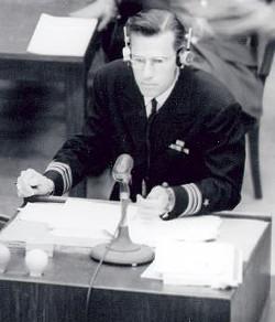 Harris at the Nuremberg Trials.