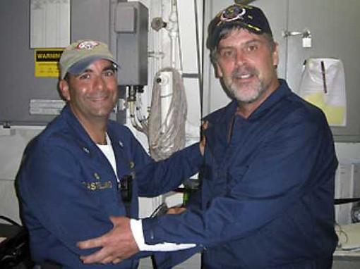 M/V Maersk Alabama Richard Phillips, on right.