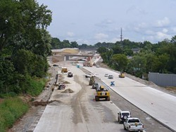 Highway 40 (I-64) as pictured last August.